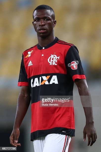 Vinicius Jr of Flamengo in action during a match between Flamengo and Atletico MG part of Brasileirao Series A 2017 at Maracana Stadium on May 13...