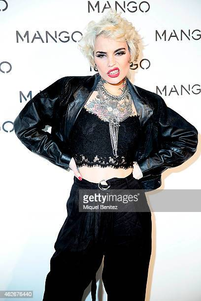 Vinila Von Bismarck attends the Mango fashion show photocall during the last Mango's collection at the '080 Barcelona Fashion Week 2015 Fall/Winter'...