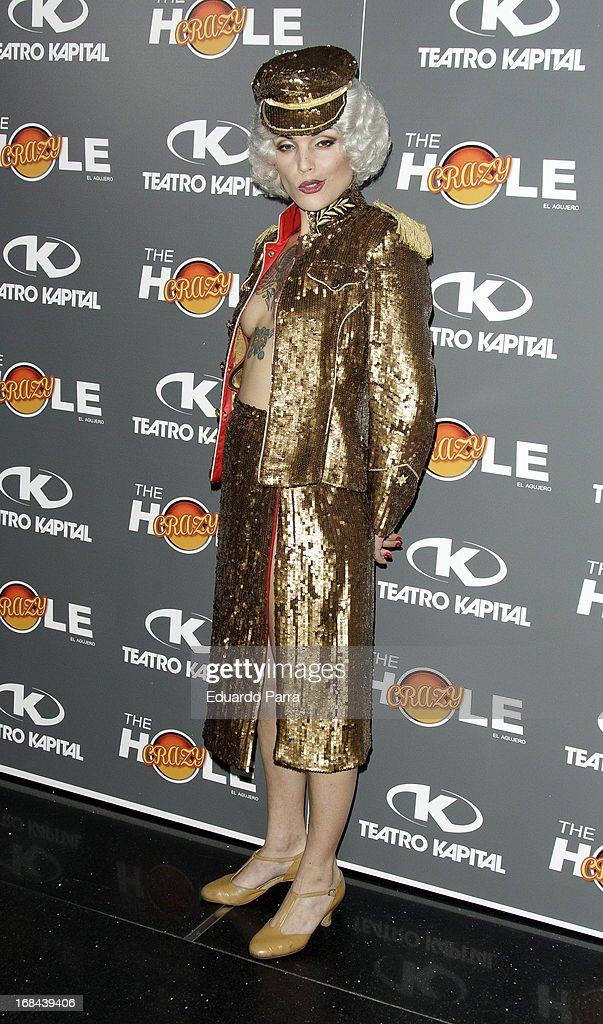 Vinila von Bismark attends 'The crazy hole' premiere photocall at Kapital theatre on May 9, 2013 in Madrid, Spain.