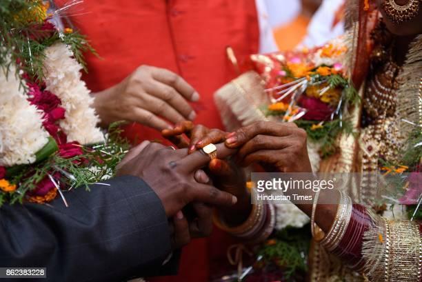 Vinita Devi a widow got remarried with Rakesh Kumar at Gopinath Temple on October 16 2017 in Vrindavan India Vinita got widowed in 2013 when she lost...