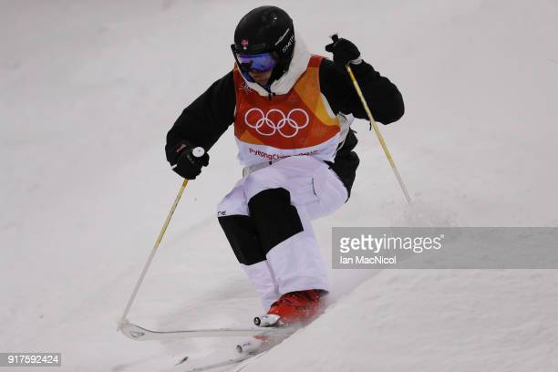 Vinjar Slattan of Finland competes in the Men's Moguls at Phoenix Snow Park on February 12 2018 in Pyeongchanggun South Korea