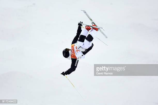 Vinjar Slatten of Norway competes in the Freestyle Skiing Men's Moguls Qualification on day three of the PyeongChang 2018 Winter Olympic Games at...