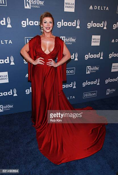 Vinna Rouge arrives for the 27th Annual GLAAD Media Awards at The Waldorf=Astoria on May 14 2016 in New York City