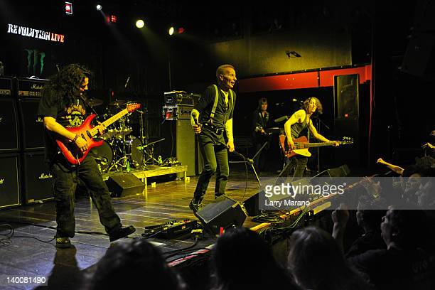 Vinnei Moore Phil Mogg and Paul Raymond of UFO perform at Revolution on February 24 2012 in Fort Lauderdale Florida