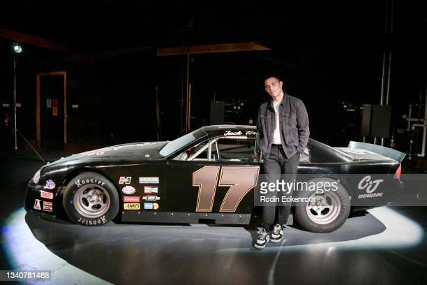 Vinnie Bennett poses for a portrait at the F9 Fest event on the Universal Studios backlot celebrating F9: The Fast Saga on September 15, 2021 in...