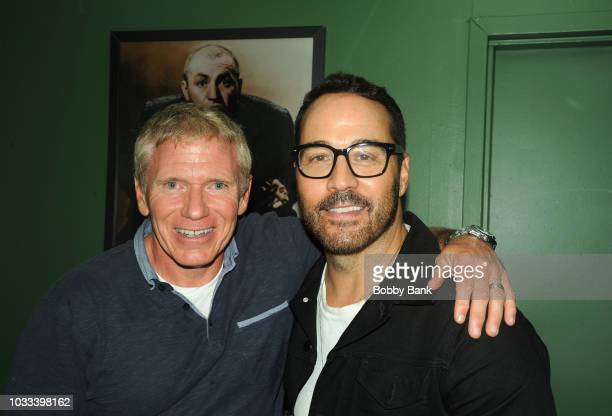Vinnie Brand and Jeremy Piven backstage at The Stress Factory Comedy Club on September 14 2018 in New Brunswick New Jersey