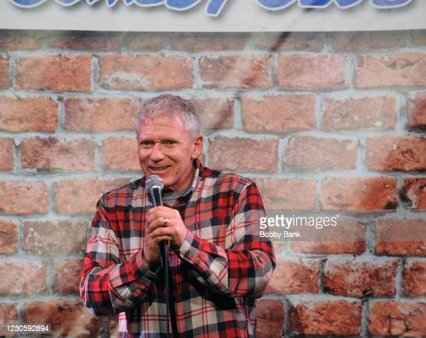 Vinnie Brand performs at The Stress Factory Comedy Club on January 14, 2021 in New Brunswick, New Jersey.