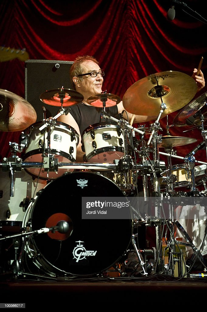 Vinnie Colaiuta performs with Jeff Beck on stage at Poble Espanyol on July 22, 2009 in Barcelona, Spain.