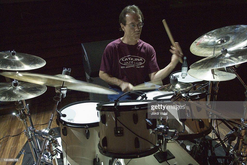 Vinnie Colaiuta plays on stage at Palau de la Musica on November 23, 2006 in Barcelona, Spain.