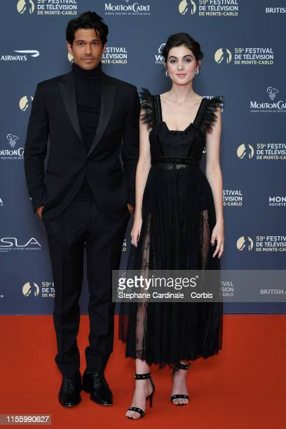 Vinnie Dargaud and Claire Chust attend the opening ceremony of the 59th Monte Carlo TV Festival on June 14 2019 in MonteCarlo Monaco