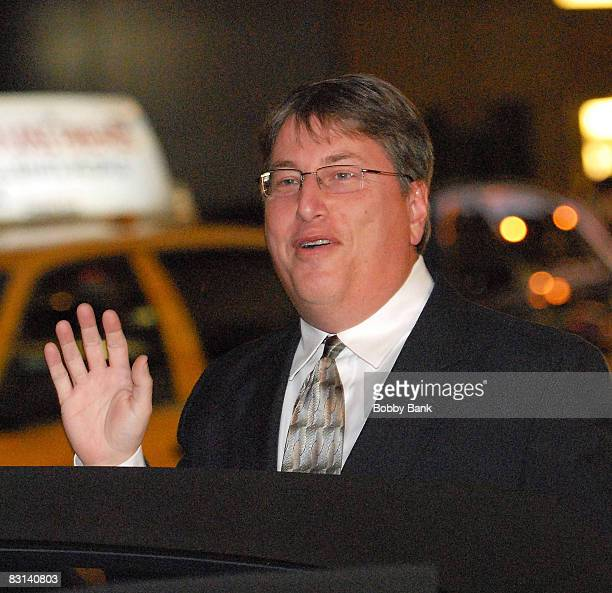 Vinnie Favale CBS Late Night producer attends the wedding of Howard Stern and Beth Ostrosky at Le Cirque on October 3 2008 in New York City