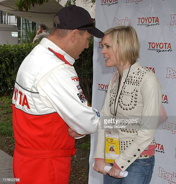 Vinnie Jones and guest during 30th Anniversary Toyota Pro/Celebrity Race Qualifying Day at Long Beach Streets in Long Beach California United States