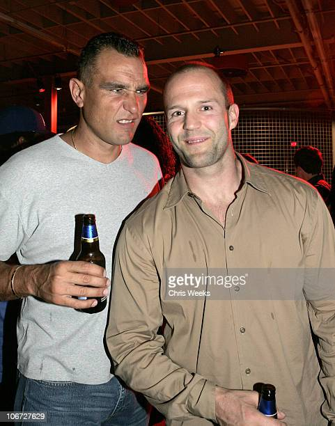Vinnie Jones and Jason Statham during Nike and Hollywood United Host 'A Night of Soccer Entertainment' Benefitting GrassRoot Soccer at 1150 South...