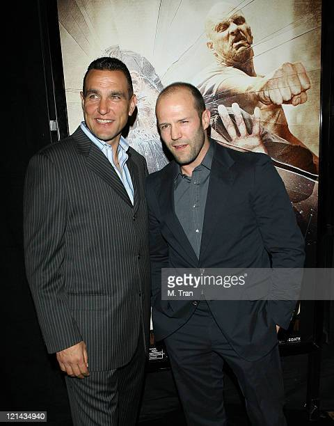 Vinnie Jones and Jason Statham during 'The Condemned' Los Angeles Premiere Arrivals at Arclight in Hollywood California United States