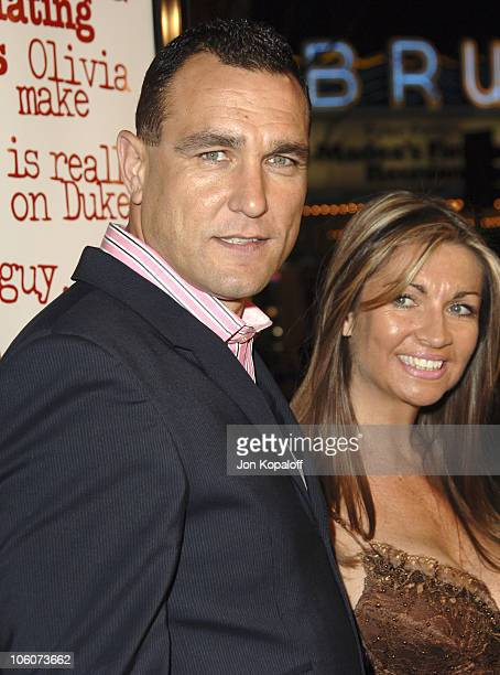 """Vinnie Jones and wife Tanya Jones during DreamWorks' """"She's the Man"""" Los Angeles Premiere - Red Carpet at Mann's Village in Westwood, California,..."""