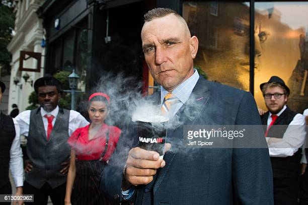 Vinnie Jones attends a photocall to launch the new 'Mafia III' game at TimberYard Seven Dials on October 7 2016 in London England