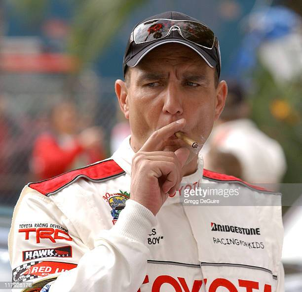 Vinnie Jones during 30th Anniversary Toyota Pro/Celebrity Race Qualifying Day at Long Beach Streets in Long Beach California United States