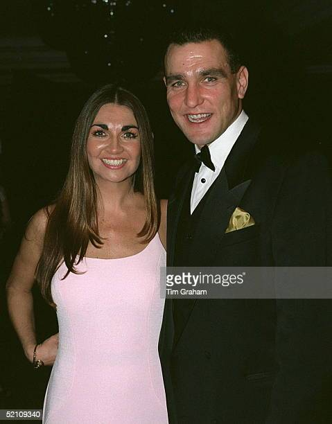 Vinnie Jones Footballer And Star Of The Film ' Lock Stock And Two Smoking Barrels With His Wife At A Ball At The Hilton Hotel In London In Aid Of...