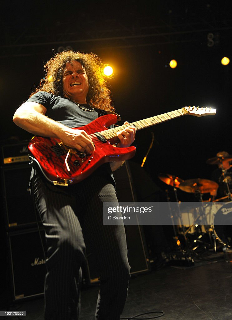 Vinnie Moore of UFO performs on stage at The Forum on March 5, 2013 in London, England.