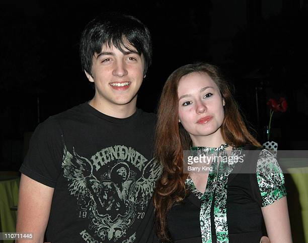 Vinnie Pergola and Jillian Clare during Year of the Dog Los Angeles Premiere Arrivals at The Paramount Pictures Theater in Los Angeles California...