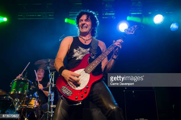 Vinny Appice and Phil Soussan of Last in Line perform onstage at the NI Music Awards at Mandela Hall on November 11 2017 in Belfast Northern Ireland