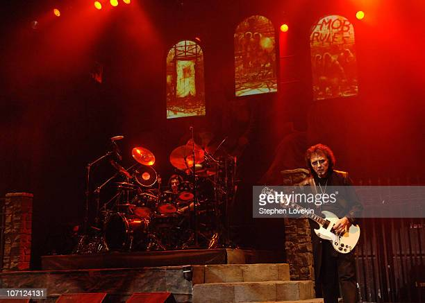 Vinny Appice and Tony Iommi during Heaven and Hell Black Sabbath Featuring Ronnie James Dio in Concert at Radio City Music Hall in New York City...