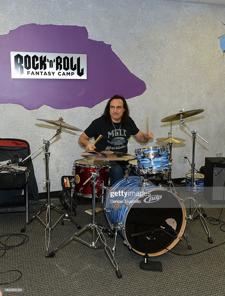 Vinny Appice during Rock 'n' Roll Fantasy Camp in Las Vegas on February 18, 2013 in Las Vegas, Nevada.