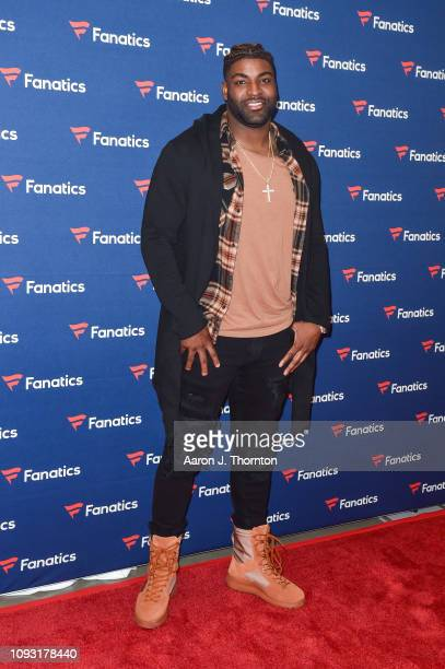 Vinny Curry arrives to Michael Rubin's Fanatics Super Bowl Party at the College Football Hall of Fame on February 2, 2019 in Atlanta, Georgia.