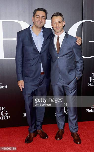 Vinny Daniels and actor Jeremy Strong attend the The Big Short New York premiere at Ziegfeld Theater on November 23 2015 in New York City