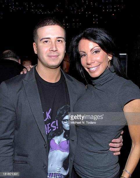 Vinny Guadagnino and Danielle Staub attend Vinny Guadagnino's IHAV clothing line launch party at Greenhouse on January 3 2011 in New York City