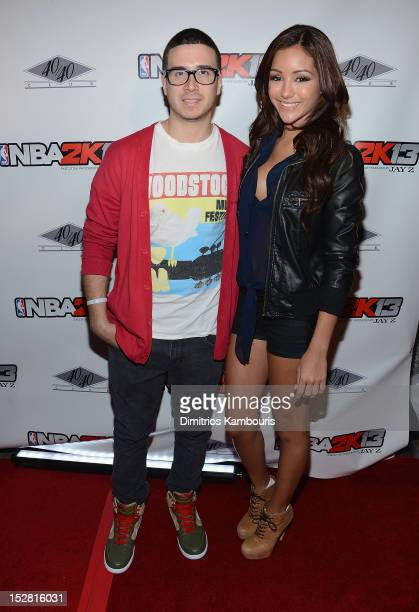 Vinny Guadagnino and Melanie Iglesias attend 'NBA 2K13' Premiere Launch Party at 40 / 40 Club on September 26 2012 in New York City
