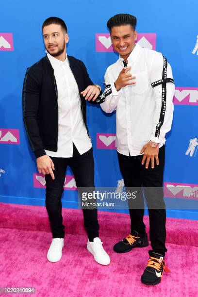 Vinny Guadagnino and Pauly D attends the 2018 MTV Video Music Awards at Radio City Music Hall on August 20, 2018 in New York City.