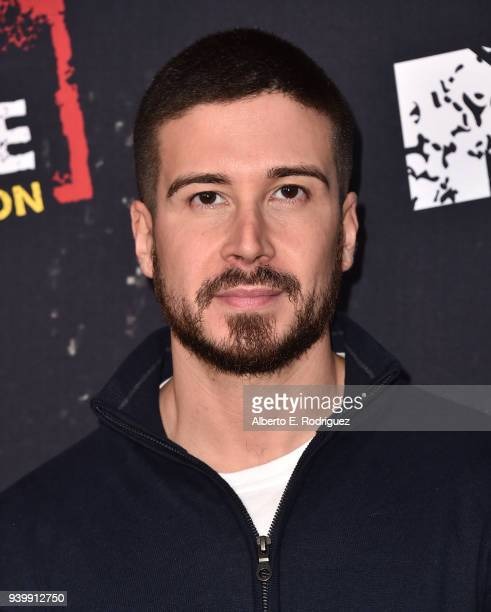 """Vinny Guadagnino attends the Premiere of MTV Network's """"Jersey Shore: Family Vacation"""" at HYDE Sunset: Kitchen + Cocktails on March 29, 2018 in West..."""