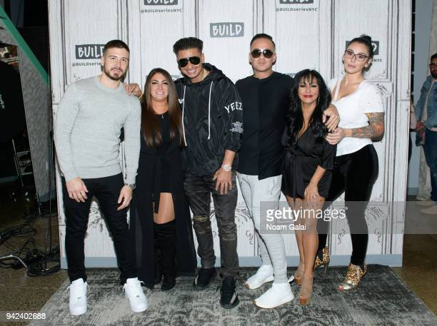 Vinny Guadagnino Deena Nicole Cortese Paul Pauly D Delvecchio Mike The Situation Sorrentino Nicole Snooki Polizzi and Jenni JWOWW Farley visit Build...