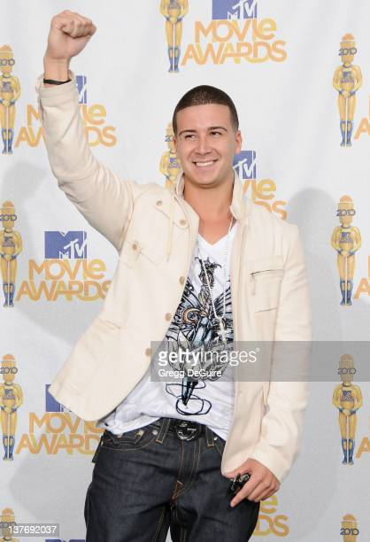 Vinny Guadagnino in the press room at the 2010 MTV Movie Awards at the Gibson Amphitheatre on June 6 2010 in Universal City California