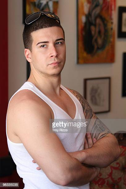 Vinny Guadagnino is seen at a tattoo shop on April 8 2010 in Miami Beach Florida