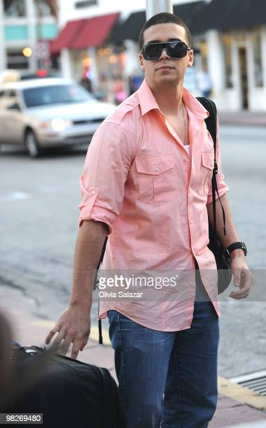 Vinny Guadagnino is sighted on South Beach where 'The Jersey Shore' has begun filming on April 5 2010 in Miami Beach Florida