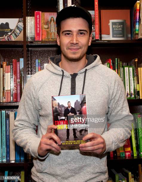 Vinny Guadagnino promotes 'Control The Crazy My Plan To Stop Stressing Avoid Drama And Maintain Inner Cool' at Barnes Noble Tribeca on April 18 2012...