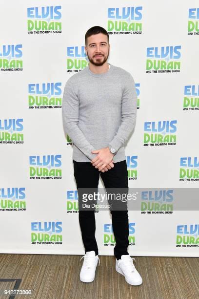 """Vinny Guadagnino visits """"The Elvis Duran Z100 Morning Show"""" at Z100 Studio on April 5, 2018 in New York City."""