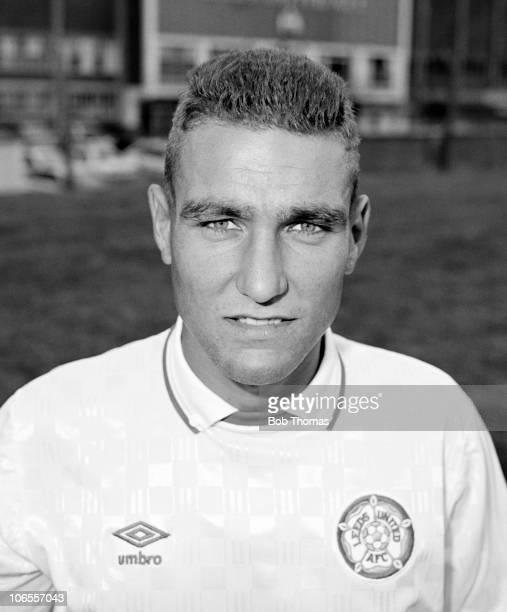 Vinny Jones of Leeds United during the team photocall held in Leeds circa July 1989