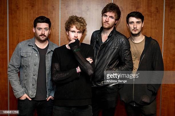 Vinny May, Stephen Garrigan, Mark Prendergast and Jason Boland of Kodaline pose back stage for the Absolute Radio Presents the road to Hard Rock...