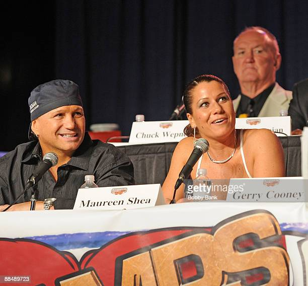 Vinny Paz, Maureen Shea and Chuck Wepner attends the opening weekend of Smokin' Joe Frazier's Sportzbox at Bally's Atlantic City on June 13, 2009 in...