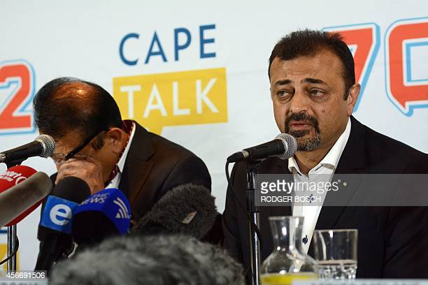 Vinod and Ashok Hindocha father and uncle of murdered tourist Swedishborn Anni Hindocha Dewani speak to the media the day before the start of the...