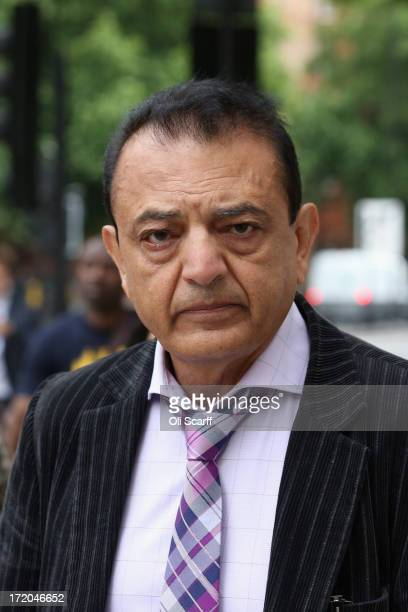 Vinod Hindocha father of Anni Dewani arrives at Westminster Magistrates Court to attend the extradition hearing of Shrien Dewani on July 1 2013 in...