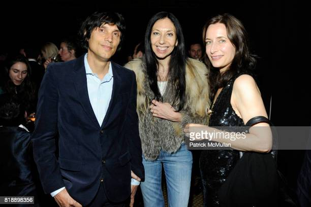 Vinoodh Matadin, Inez van Lamsweerde and Josephine Meckseper attend Creative Time Annual Benefit honoring Andrea & Marc Glimcher at Jing Fong on May...