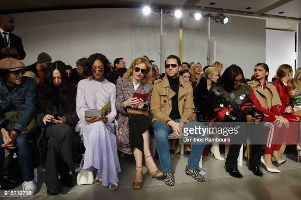 Vinoodh Matadin Inez van Lamsweerde Jourdan Dunn Eva Herzigova Derek Blasberg Law Roach and Zendaya attend the Michael Kors Collection Fall 2018...