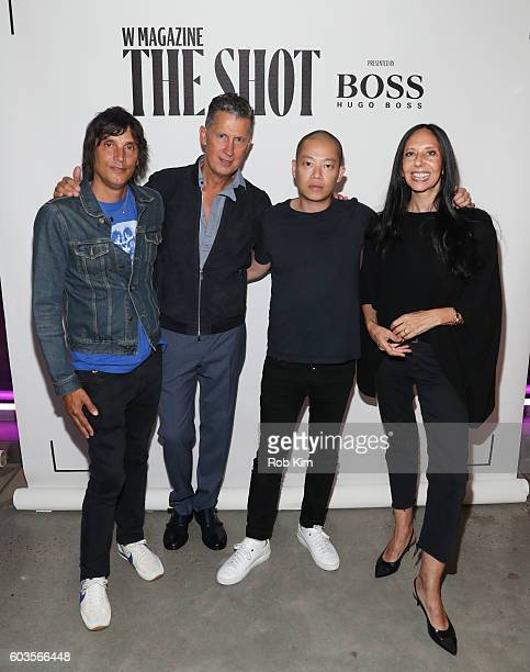 Vinoodh Matadin Stefano Tonchi Jason Wu and Inez Van Lamsweerde attend the W Magazine and Hugo Boss Celebrate The Shot event at the International...