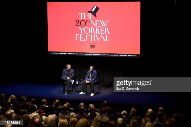 Vinson Cunningham and Kenan Thompson speak on stage during the 2019 New Yorker Festival on October 13, 2019 in New York City.