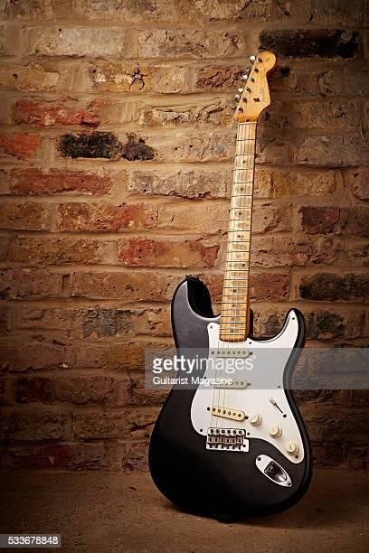 A vintage 1957 Fender Stratocaster electric guitar taken on July 21 2014