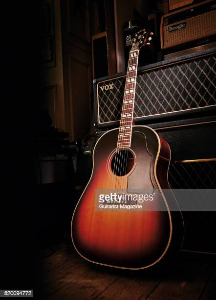 A vintage 1960 Gibson Southern Jumbo acoustic guitar taken on June 21 2016